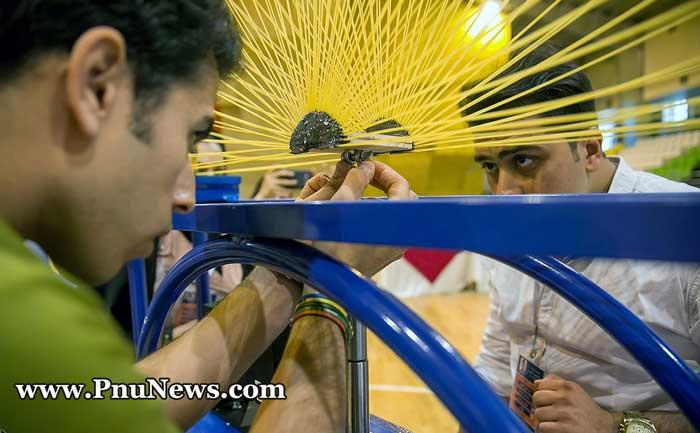 جشنواره سازه های ماکارونی در دانشگاه پیام نور