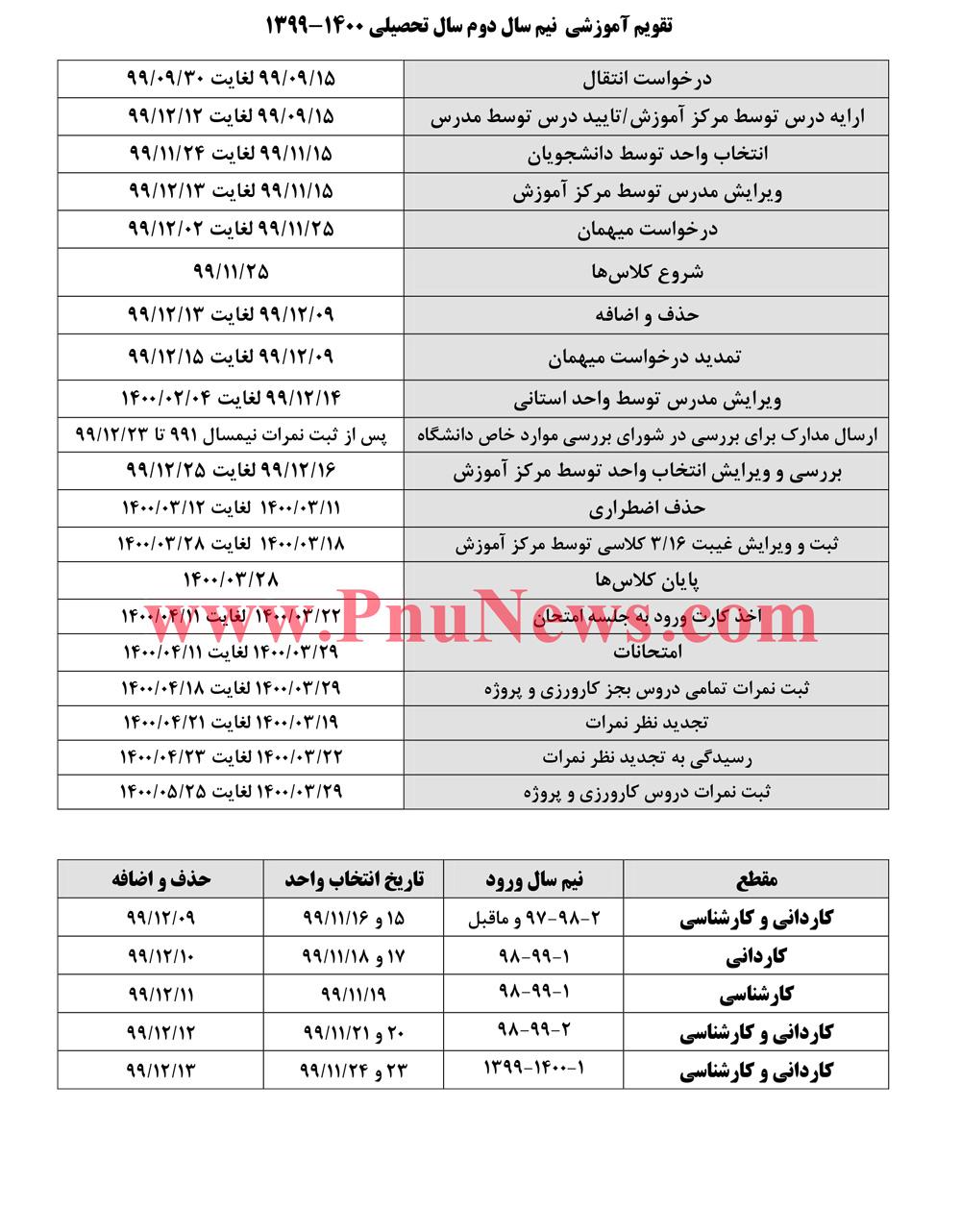 تقویم-آموزشی-ترم-بهمن-99-دانشگاه-علمی-کاربردی