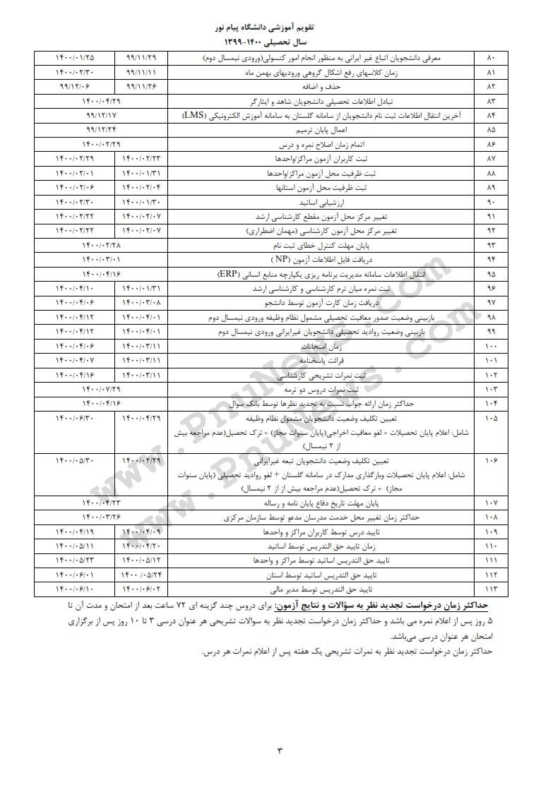 52ecc36a2b تقویم آموزشی دانشگاه پیام نور در سال 1400 1399 / تاریخ ثبت نام ، انتخاب واحد و مهمان اخبار پیام نور