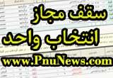سقف مجاز انتخاب واحد پیام نور